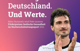 Mats Hummels: Nationalspieler ist Pate vom Förderpreis Seelische Gesundheit im Nachwuchsleistungssport 2021